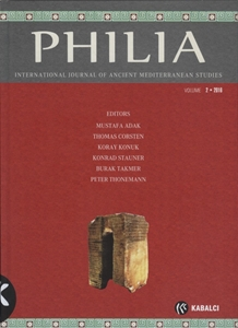 Philia International Journal Of Anciment Mediterranean Studuies Volume 2 2016