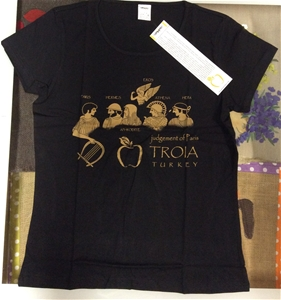 Troia - Paris'in Kararı Basklı T-Shirt / Bayan